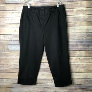 Context Woman Cropped Dress pant black 14W